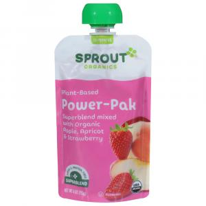 Sprout Power Pak Organic Superblend with Apple, Apricot &