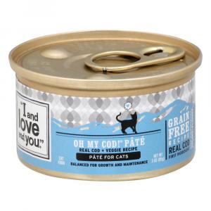 """""""I and Love and You"""" Oh My Cod! Pate Cat Food"""