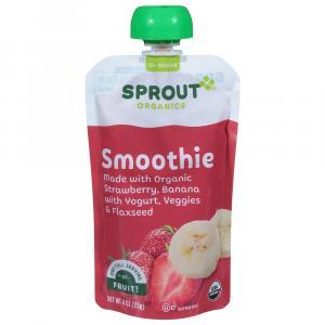 Sprout Organic Smoothie Strawberry Banana with Yogurt