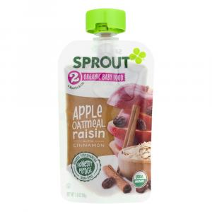Sprout Stage 2 Organic Baby Food Apple Oatmeal Raisin with