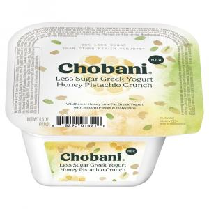 Chobani Less Sugar Greek Yogurt Honey Pistachio Crunch