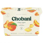 Chobani Peach on the Bottom Greek Yogurt