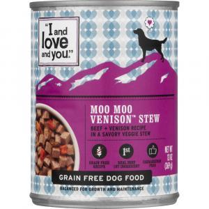"""I and Love and You"" Moo Moo Venison Stew Dog Food"