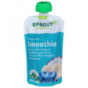 Sprout Organic Smoothie Blueberry Banana with Coconut Milk