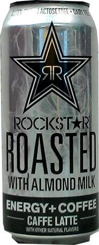 Rockstar Roasted W/almond Milk Energy + Coffee Caffe Latte