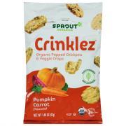 Sprout Organic Crinklez Popped Veggie Snack Pumpkin Carrot