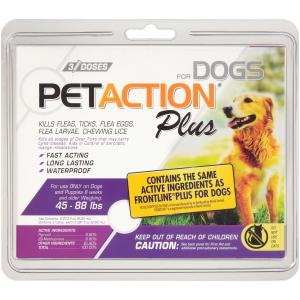 Pet Action Plus Kills Fleas for Large Dogs