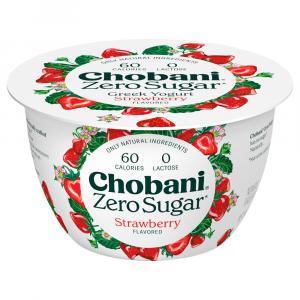 Chobani Zero Sugar Nonfat Yogurt Strawberry