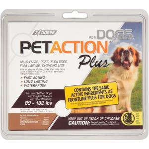 Pet Action Plus Kills Fleas For Extra Large Dogs