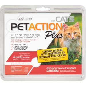 Pet Action Plus Kills Fleas for Cats