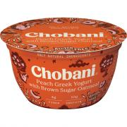 Chobani Peach Greek Yogurt with Brown Sugar Oatmeal
