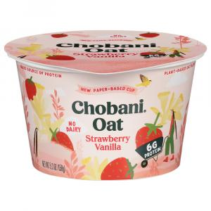 Chobani Non Dairy Plant-Based Oat Blend Strawberry Vanilla