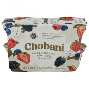 Chobani Core Red, White, & Blueberry Yogurt - Charity