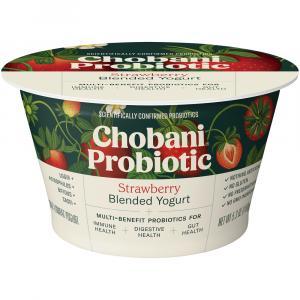 Chobani Probiotic Strawberry Blended Yogurt