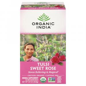 Organic India Tulsi Sweet Rose Tea Bags