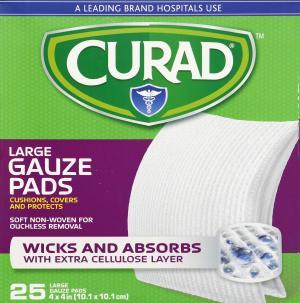 """Curad Non-Woven Pro-Gauze 4"""" x 4"""""""