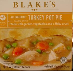 Blake's Turkey Pot Pie W/vegetables