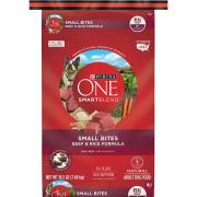 Purina One Smartblend Small Bites Beef & Rice Adult Dog Food