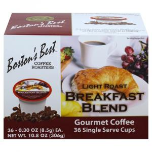 Boston's Best Breakfast Blend Single Serve Cup Gourmet Coffe