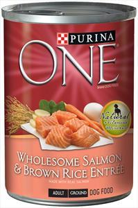Purina One Salmon & Brown Rice Can Dog Food