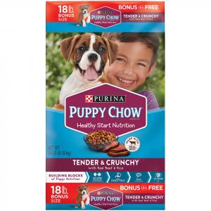 Purina Puppy Chow Healthy Morsels Dry Dog Food Bonus