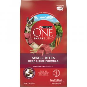 Purina One Smartblends Small Bites Beef & Rice Dry Dog Food