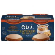 Yoplait Oui Layered Dessert Caramel Cheesecake