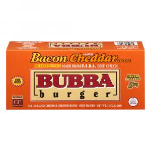 Bubba Bacon Cheddar Burgers