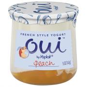 Yoplait OUI French Style Peach Yogurt