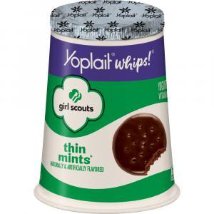 Yoplait Girl Scouts Thin Mint Whips Yogurt