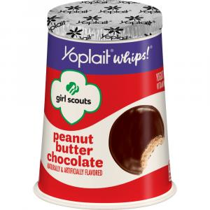Yoplait Girl Scouts Chocolate Peanut Butter Whips Yogurt