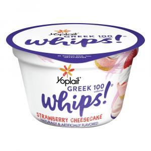 Yoplait Greek 100 Whips Strawberry Cheesecake