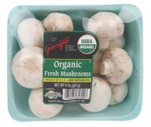 Giorgio Organic Whole White Mushrooms