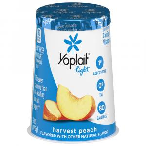 Yoplait Light Peach Yogurt