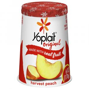 Yoplait Peach Yogurt
