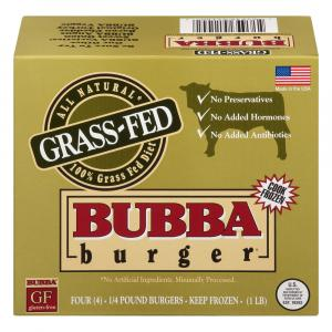 Bubba Grass Fed Burgers