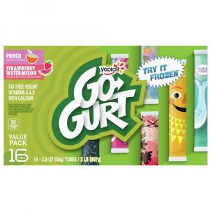 Yoplait Go-Gurt Strawberry Watermelon Punch Yogurt