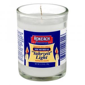 Rokeach Yahrzeit Memorial Candle