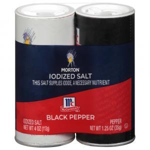 Morton Salt & Pepper Shakers