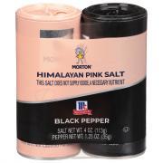 Morton Himalayan Pink Salt & McCormick Black Pepper