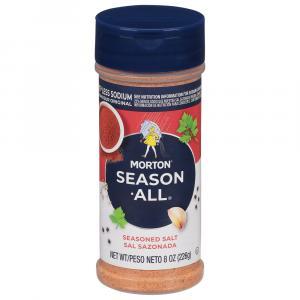 Morton 25% Less Sodium Season All Seasoned Salt