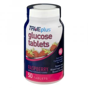 True Plus Glucose Raspberry Tablets
