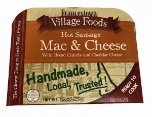 Francestown Village Macaroni and Cheese with Hot Sausage