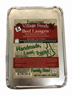 Francestown Village Beef Lasagna