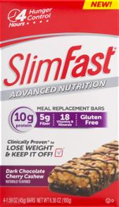 Slimfast Advanced Meal Bar Dark Chocolate Cherry Cashew