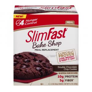 Slimfast Bake Shop Double Chocolate Chip Cookie