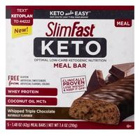 Slim Fast Keto Meal Replacement Bars Triple Chocolate