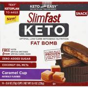 Slimfast Keto Fat Bomb Snack Cup Caramel