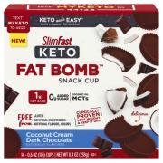 Slimfast Keto Fat Bomb Snack Cup Coconut Cream