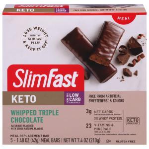 SlimFast KETO Whipped Triple Chocolate Meal Bars